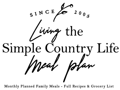 Subscription Monthly Meal Plan - Calendar - Full Recipes & Grocery List