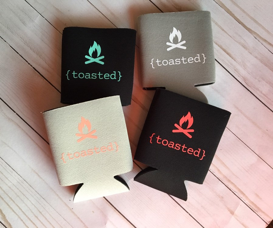 { Toasted } Camping Can Cooler/ Drink Holder-
